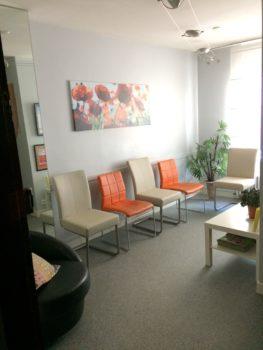 salle d'attente cabinet Bretagne 14 rue de Budapest Nantes-Marie Duval sophrologue