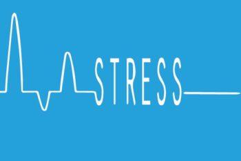 Stress écrit sur fond d'électrogramme-Marie Duval sophrologue