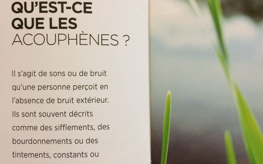 Accompagner un patient acouphènique: Résumé du Colloque de l'AFREPA à Versailles