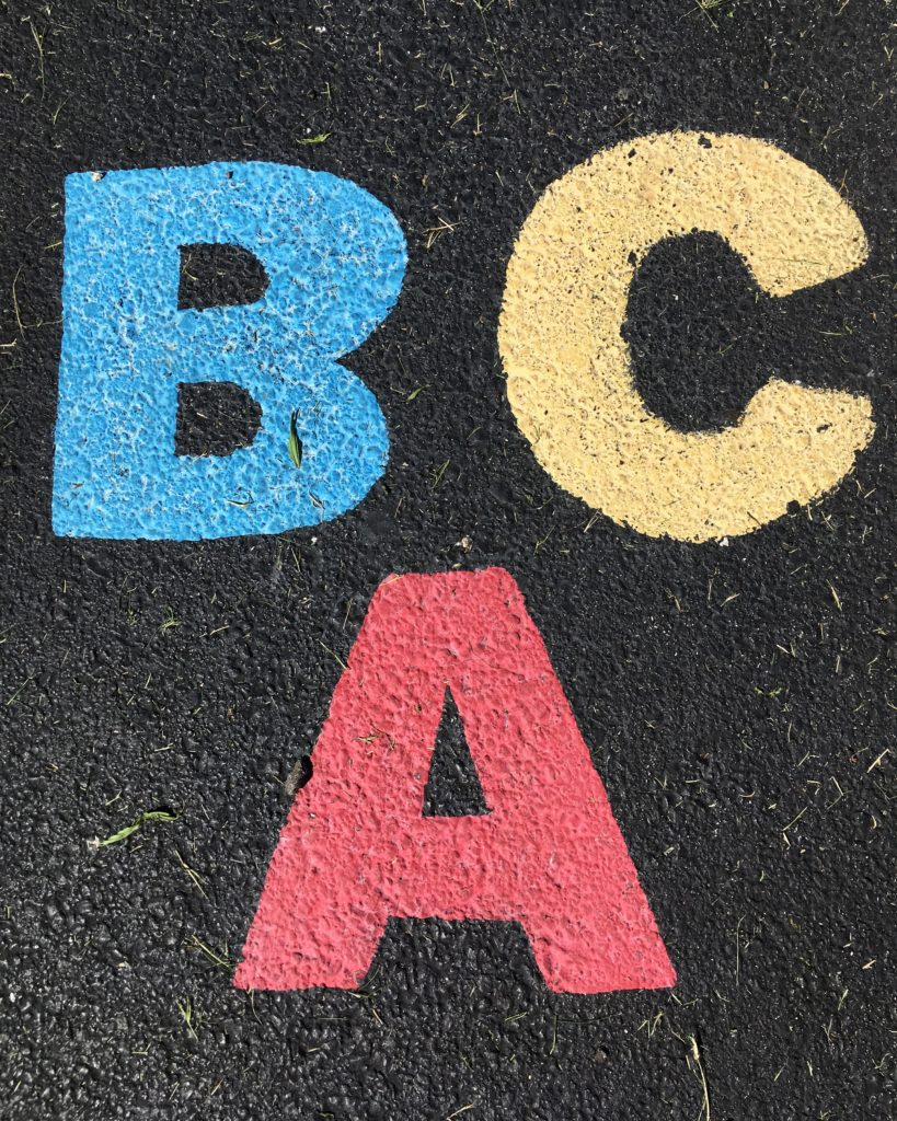 Les lettres BAC écrit en couleurs-Marie Duval sophrologue