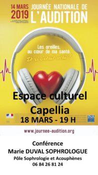 Les oreilles au coeur de notre santé @ Espace culturel Capellia , la Chapelle sur Erdre