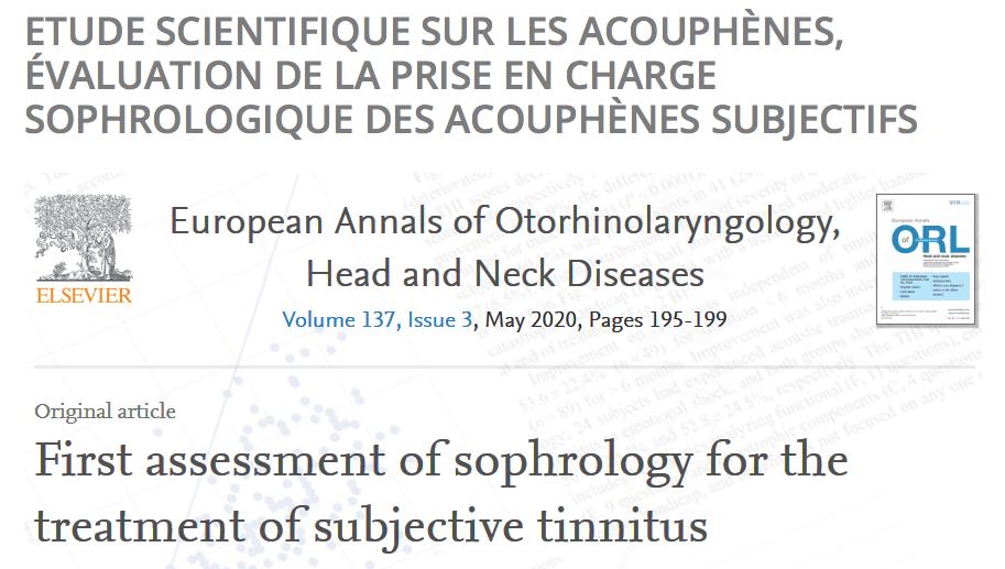 Récapitulatif de l'étude scientifique sur la prise en charge des acouphènes subjectifs-Marie Duval sophrologue